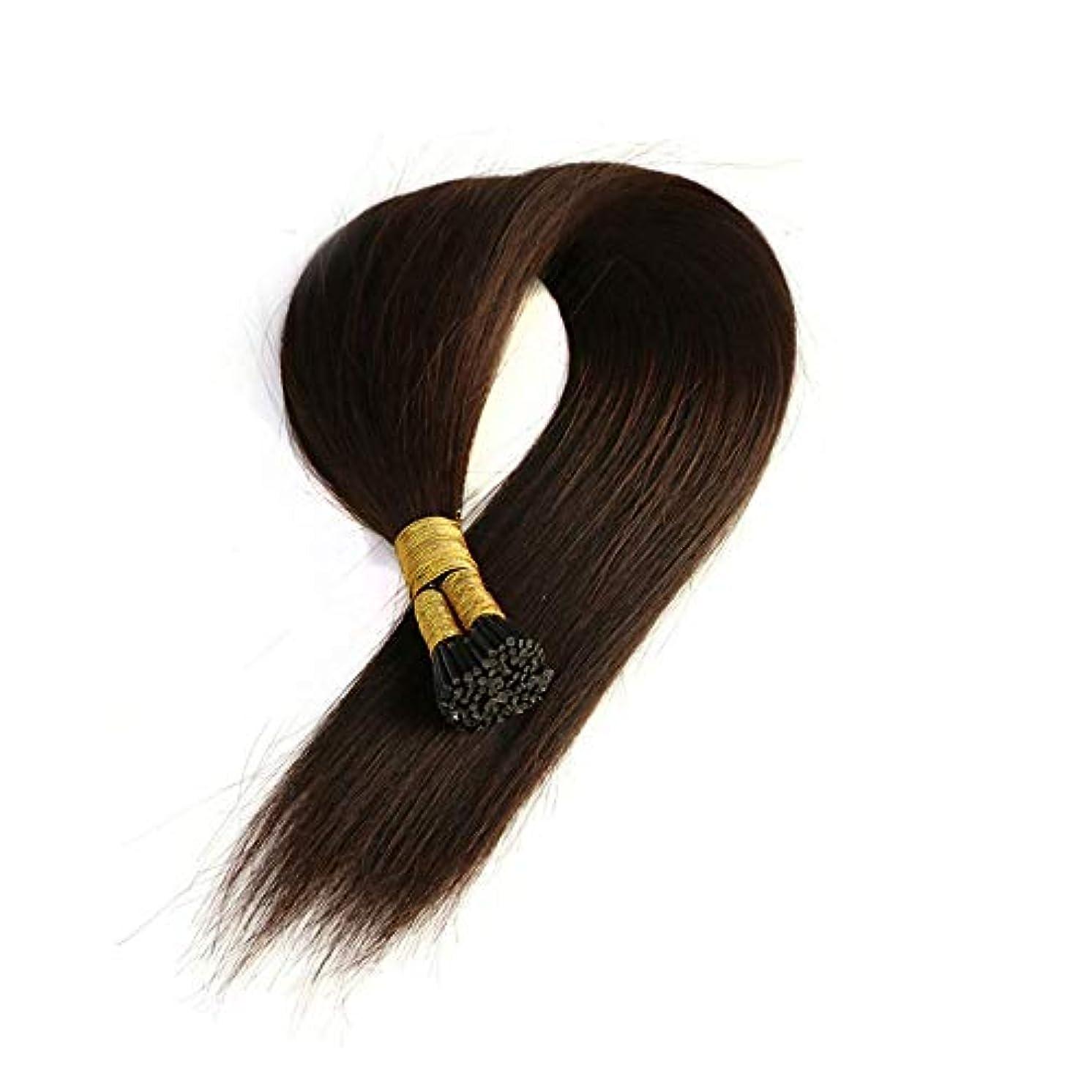 最終的に下に補充JULYTER ナノリングヘアエクステンション人間の髪の毛イージーラングループマイクロビーズ髪の毛50グラムあたりパッケージ総計 (色 : 黒, サイズ : 40cm)