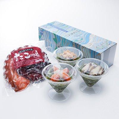 三彩めかぶ・煮たこセット 株式会社木村水産 宮城県 南三陸の海から、豊かな旬の海の幸をお届け