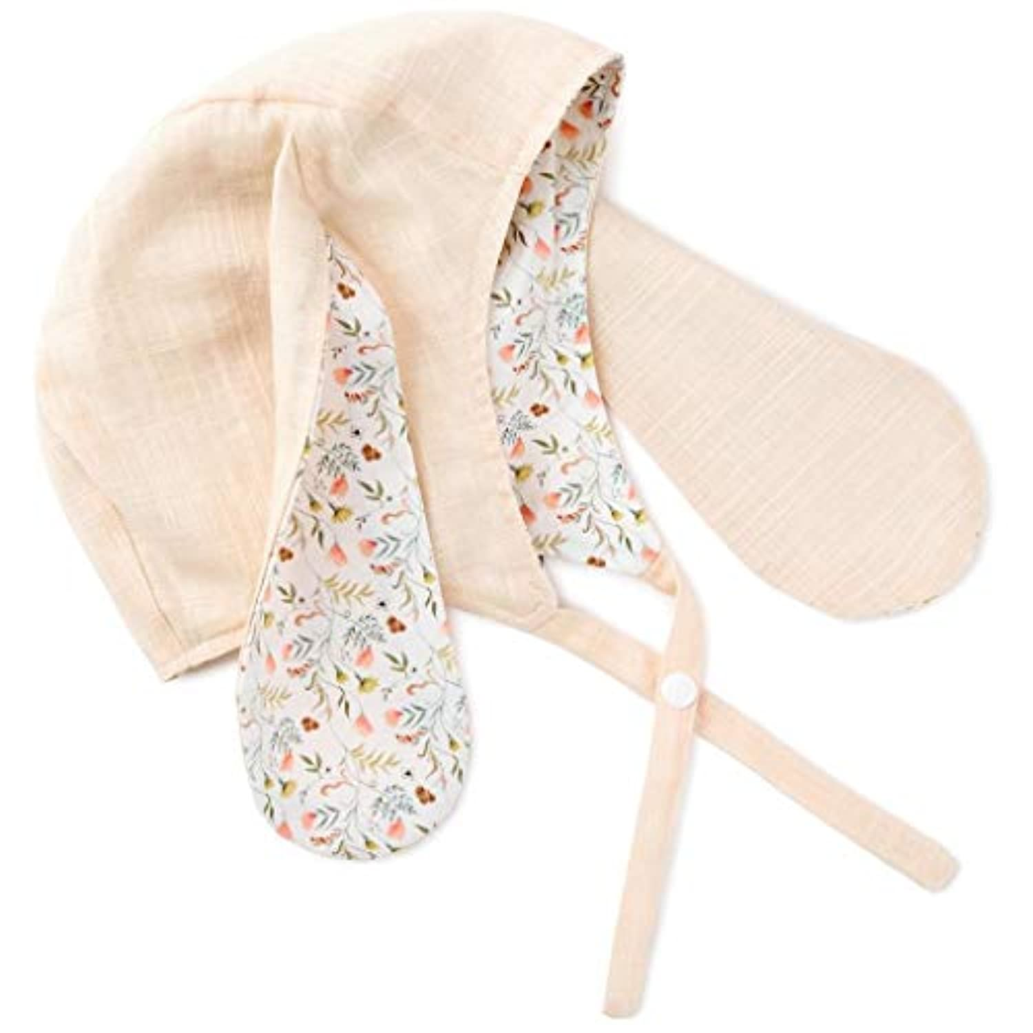 Hallmark Heirloom Floral Bunny Chambray Baby Bonnet HAT ベビー?ガールズ US サイズ: Small カラー: ピンク