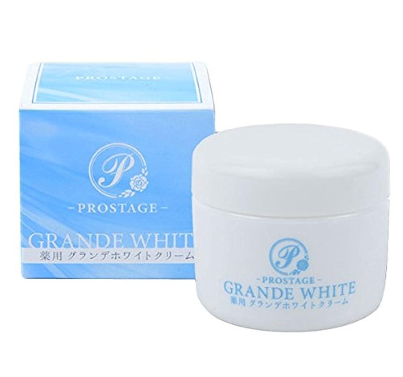 正当化する回転させるシロクマ薬用グランデホワイトクリーム PROSTAGE ホワイトニングクリーム 大容量80g (2個)