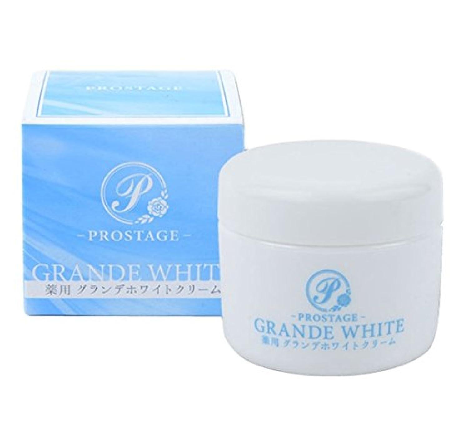 道路を作るプロセス担保関係薬用グランデホワイトクリーム PROSTAGE ホワイトニングクリーム 大容量80g (1個)