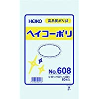 HEIKO ポリ規格袋 ヘイコーポリ No.608 紐なし 006619800