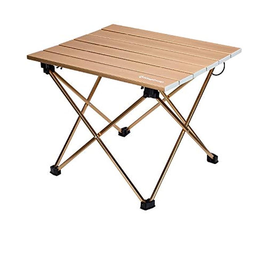 驚いたことにペイント脆いKingCamp ロールテーブル 折りたたみ テーブル コンパクト 航空アルミ製 キャンプ アウトドア 耐荷重25kg 超軽量1.3kg 収納袋付き KC3925