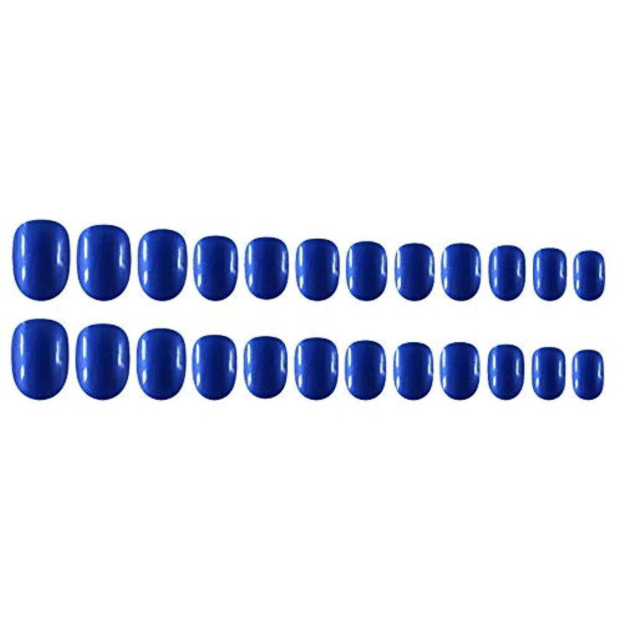 物理材料資金Decdeal Decdeal ネイルチップ 24ピース 12異なるサイズ diy サロン ネイルアートツール 偽