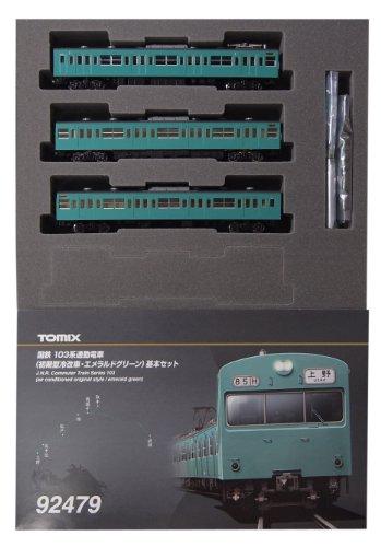TOMIX Nゲージ 92479 103系通勤電車 (初期型冷改車・エメラルドグリーン) 基本セット