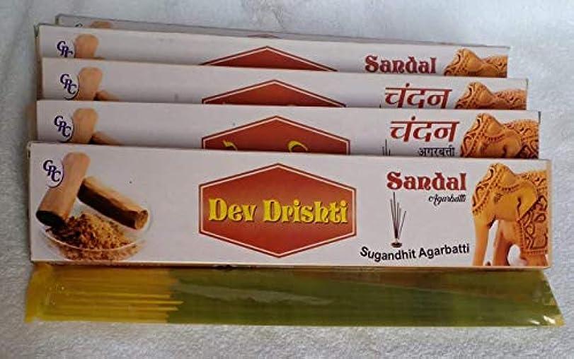 殺人者バルクまたDev Drishti Sandal Agarbatti Pack Of 12 (Per Pack of 15 Sticks)