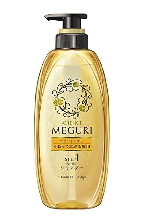 騒究極の民間アジエンスMEGURI 洗い出すシャンプー ゴワつきやすい うねって広がる髪用 本体