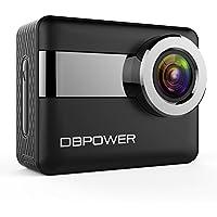 "DBPOWER 4K アクションカメラ 2.31"" LCD タッチスクリーン 20MP ソニーセンサ 170度広角 手ブレ補正機能 30メートル防水 WIFIスポーツカメラ 二つバッテリー 豊富なアクセサリー付き 日本語説明書 2年保証 (ブラック)"