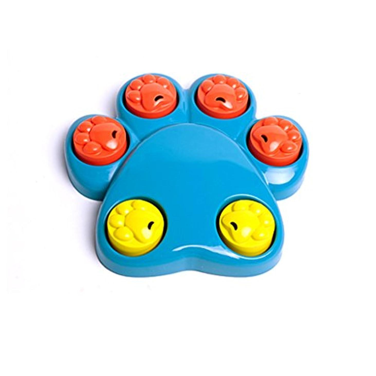 ペット知育おもちゃ 犬 餌入れ玩具 ペットおもちゃ おやつ 訓練 遊び 歯ぎしり 早や食いを防止 知恵を高め 退屈を解消 丈夫 耐久性 清潔 安全 ブルー 20.5*20.5CM