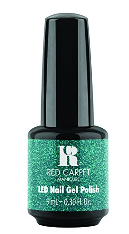 連想タイルパイロットRed Carpet Manicure - LED Nail Gel Polish - Designer Series - Shimmering Gown - 0.3oz / 9ml