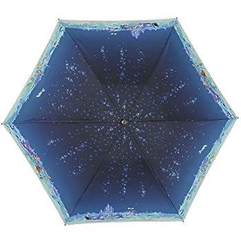小川(Ogawa) ショートスライド晴雨兼用長傘 手開き 50cm 8本骨 ディズニー リトル・マーメイド イルミネーションナイト UV加工 遮熱遮光加工 はっ水 57230