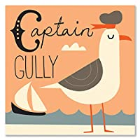 """Oopsy Daisy Fine Art for Kids Captain Gullyキャンバス壁アートby Amy Blay 18 x 18"""" NB21843"""