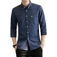 yシャツ メンズ オックスフォード シャツ メンズ 半袖 七分袖 长袖 無地 春 夏 秋 冬 SY-17011