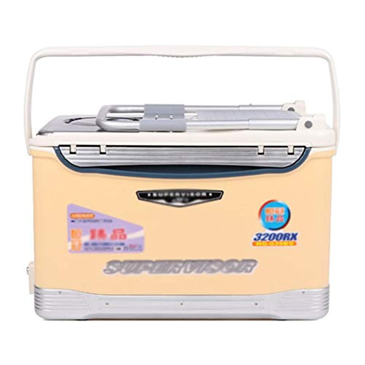 手を差し伸べる冷蔵庫広々とした餌箱 釣り道具箱 釣り箱 多機能釣り箱 収納箱 道具箱 32L容量 ギフト (Color : Beige, Size : 56*33*36.5cm)