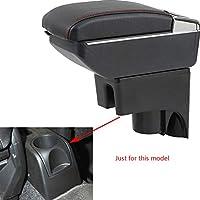 日産 Nissan LIVINA 07-16 贅沢な アームレスト コンソールボックス 小物入れ 収納 ケース 多機能 ドリンクホルダー 内装 アクセサリー カスタム オファーアーム休息 内含LEDライト リムーバブル灰皿 ブラック