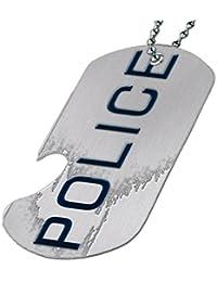 警察 – ボトルOpener犬タグネックレス