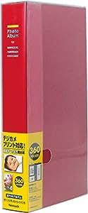 ナカバヤシ ポケットアルバム フォトホルダー 360枚 黒台紙 レッド PH1036R