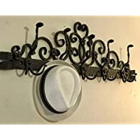 装飾錬鉄10フックコートと帽子ラック|壁マウント|ハンドメイド