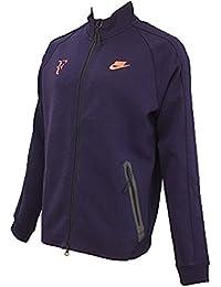 NIKE ナイキ RF ロジャーフェデラー フルフロントジッパー テニスウェア ジャケット プレミアム N98 L(176-183cm) 国内正規品 644781 パープルダイナスティ