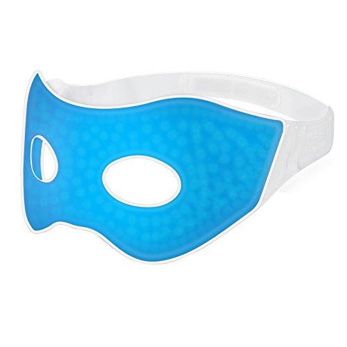 PLEMO 改良版温冷両用アイマスク 温熱 ホット クール睡眠アイマスク マッサージビーズ 目の浮腫みやクマ 寝室や旅行中の安眠に最適(ブルー)