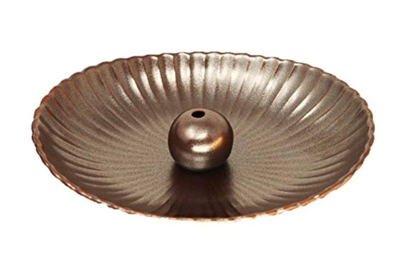 コショウメディック圧縮する鉄器色 楕円皿 日本製 製造?直売 お香立て お香たて 陶器 少し深めな香皿