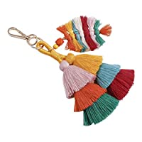 TINKSKY キーホルダー バッグチャーム カラフル バッグ スマートフォンキーホルダー 飾りギフト女性用