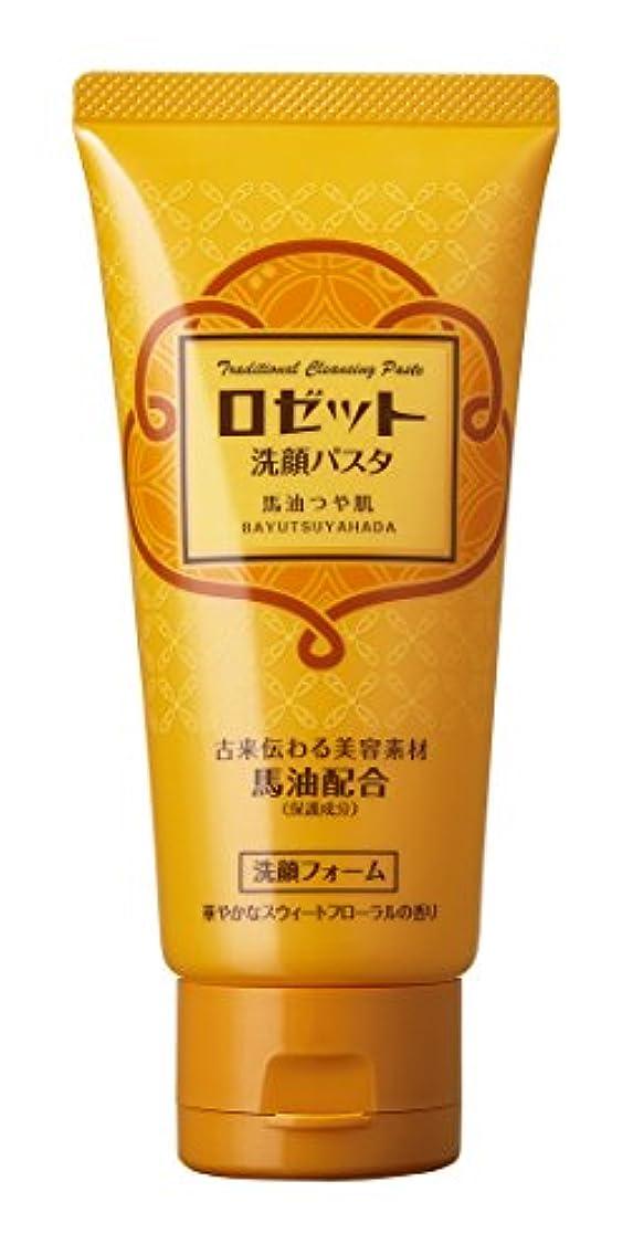 暗記する粘土重要な役割を果たす、中心的な手段となるロゼット 洗顔パスタ 馬油つや肌 120g