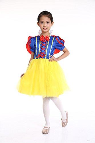 b86febc7c38fa (Lulu LAB) ディズニープリンセス 白雪姫 ドレス キッズ コスチューム 女の子 ハロウィン (100)