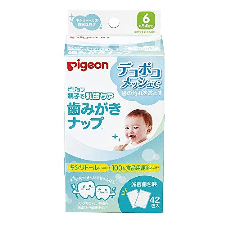 集中的な上げる市場ピジョン 親子で乳歯ケア 歯みがきナップ 42包入