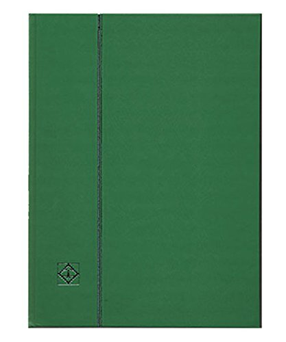 ライトハウス社 切手ストックブック/黒台紙 A4判-9段/32ページ(16枚) 表紙色-緑