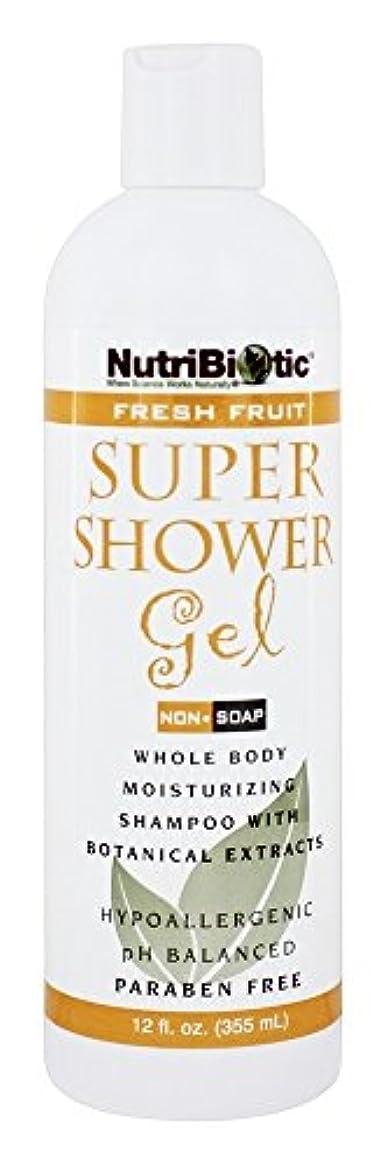 加害者アルファベット王子Nutribiotic - GSE の新鮮なフルーツの香りを持つスーパー シャワー ゲル非石鹸シャンプー - 12ポンド [並行輸入品]