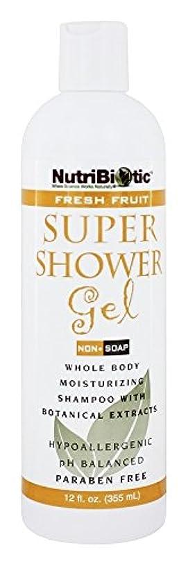 アンカー簡略化する接地Nutribiotic - GSE の新鮮なフルーツの香りを持つスーパー シャワー ゲル非石鹸シャンプー - 12ポンド [並行輸入品]