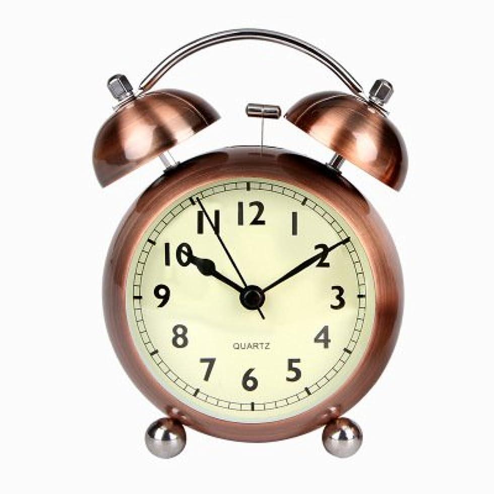 フィラデルフィアデータ気づかない純粋な色の鐘の目覚まし時計マルチカラーの目覚まし時計軽い目覚まし時計トランペットの学生の自宅3インチの金属目覚まし時計 (Color : 1)
