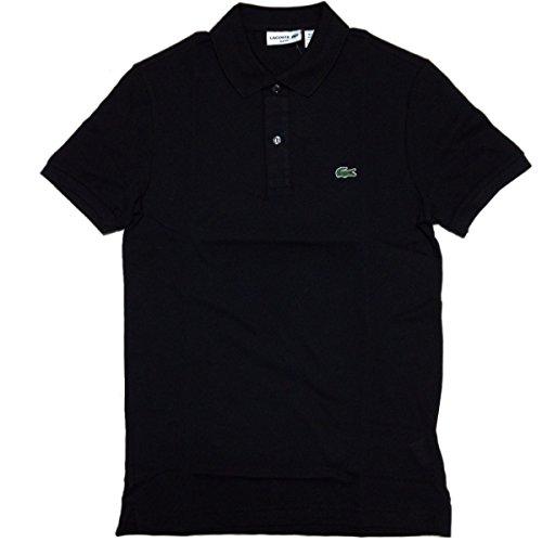 LACOSTE(ラコステ) PH4012 メンズ 半袖 鹿の子ポロシャツ スリムフィット SLIM FIT (4 US/M, 031 BLACK) [並行輸入品]