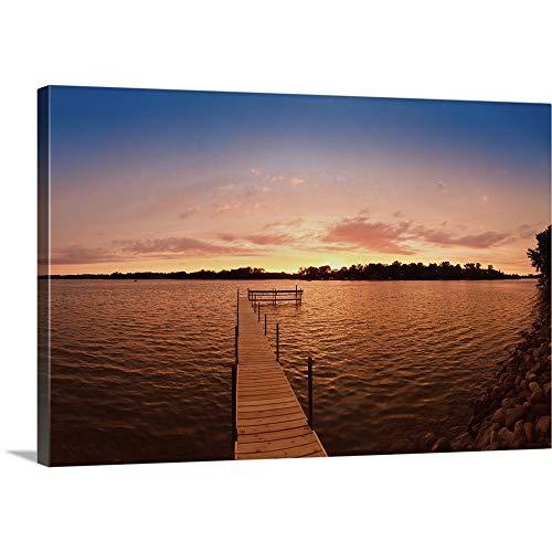 キャンバス上需要プレミアムシックラップキャンバス壁アート印刷題名Pier In A湖、湖ミネトンカ ...