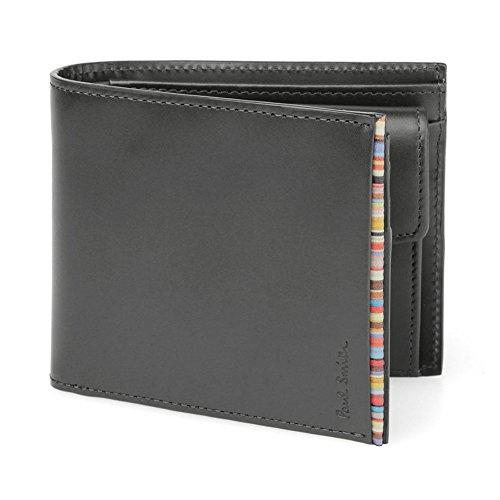 ポールスミス PaulSmith メンズ 2つ折り財布 レザー 黒 PSU055-990 牛革 (ブラック)