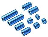 タミヤ ミニ四駆特別企画商品 アルミスペーサーセット 12/6.7/6/3/1.5mm各2個 ブルー 95310