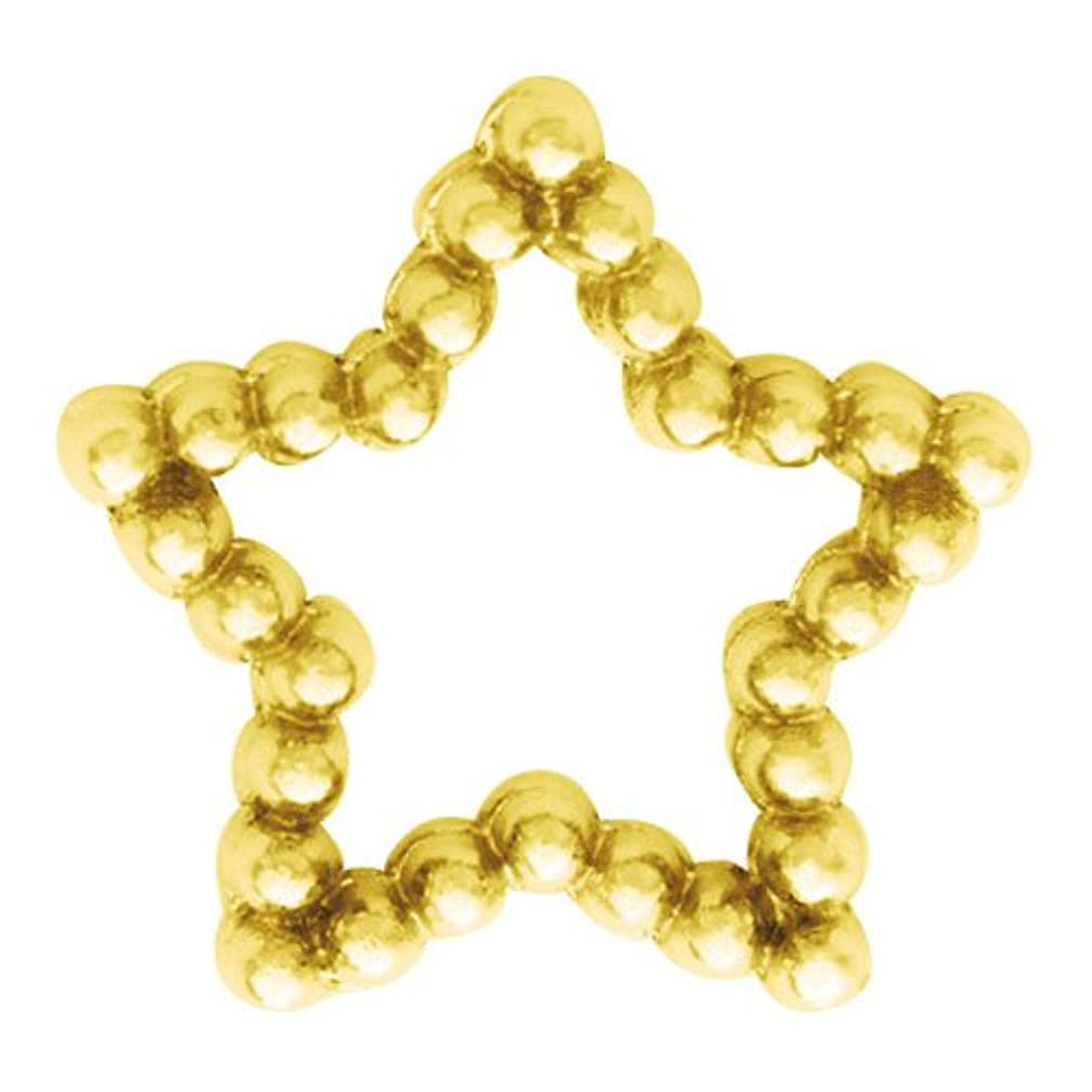 圧倒的厳しい広げるプリティーネイル ネイルアートパーツ ブリオンスターL ゴールド 10個