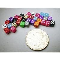 Miniature Dice: Assorted Opaque 5mm d6 (30) by Koplow Games [並行輸入品]