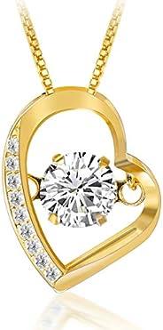 Swarovski Open Heart Necklace, Women's, Sterling Silver, 925, Present, Birthday, go