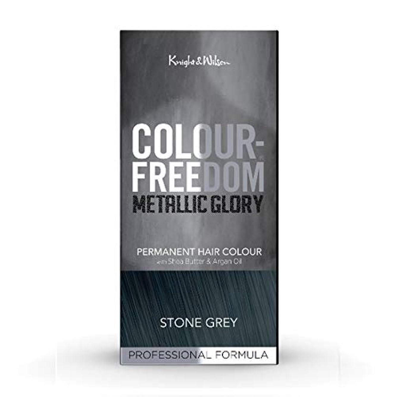 植生粉砕するキャンパス[Colour Freedom ] カラー自由メタリック栄光の石のグレー417 - Colour Freedom Metallic Glory Stone Grey 417 [並行輸入品]