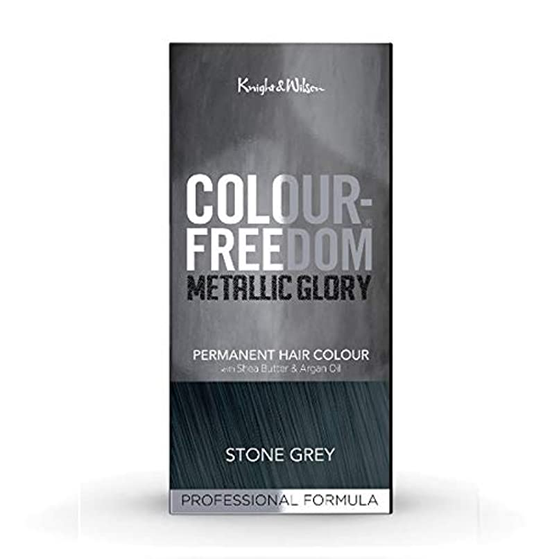 投資する値する枕[Colour Freedom ] カラー自由メタリック栄光の石のグレー417 - Colour Freedom Metallic Glory Stone Grey 417 [並行輸入品]