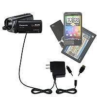 Gomadic二重壁ACホーム充電器Suitable for the Panasonic hdc-tm90ビデオカメラ–Charge Up To 2デバイスを同時にwith TipExchangeテクノロジー
