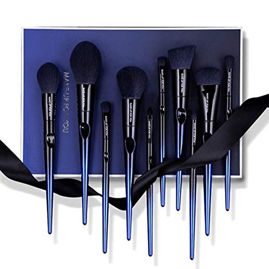 小包懐隠された青エンチャントレス10メイクブラシセット、アイシャドウブラシソフトハイグロスアイシャドウセットメイク簡単にきれいにし、簡単にキャリーのメイクセットブラシフルセット (Color : A)