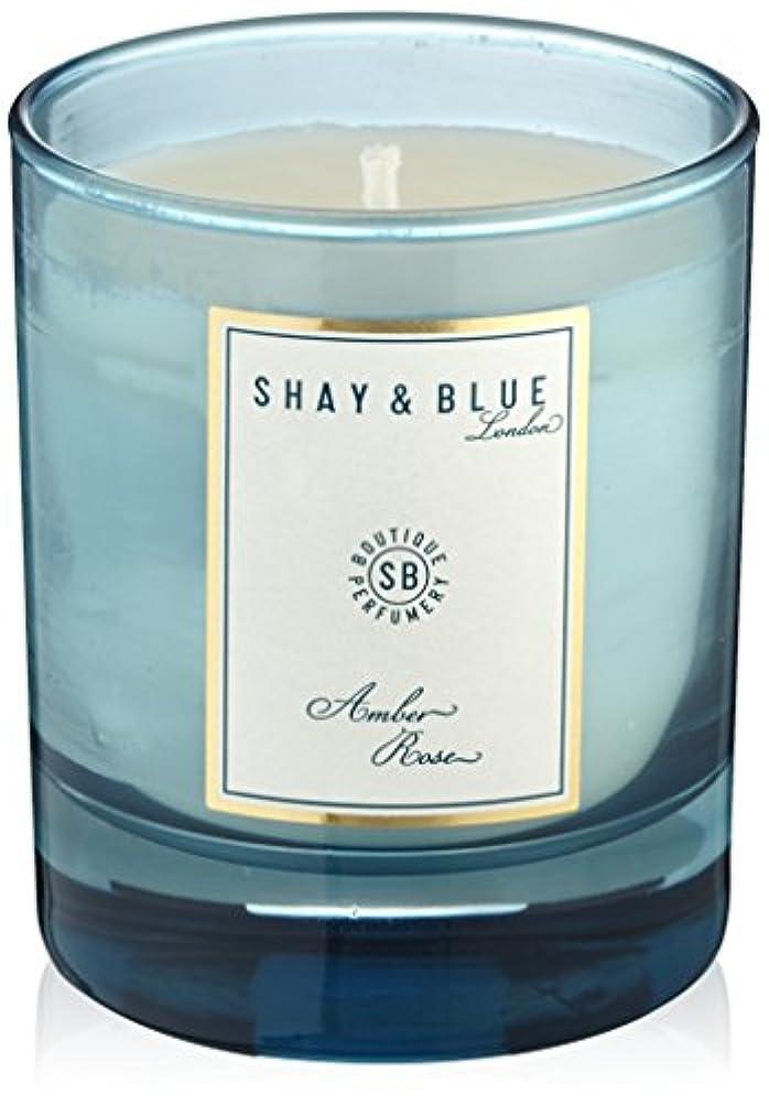光電促進する名誉SHAY&BLUEアンバーローズナチュラルワックスキャンドル140g
