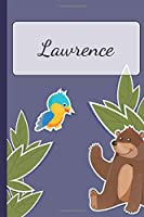 Lawrence: Personalized Notebooks • Sketchbook for Kids with Name Tag • Drawing for Beginners with 110 Dot Grid Pages • 6x9 / A5 size Name Notebook • Perfect as a Personal Gift • Planner and Journal for kids