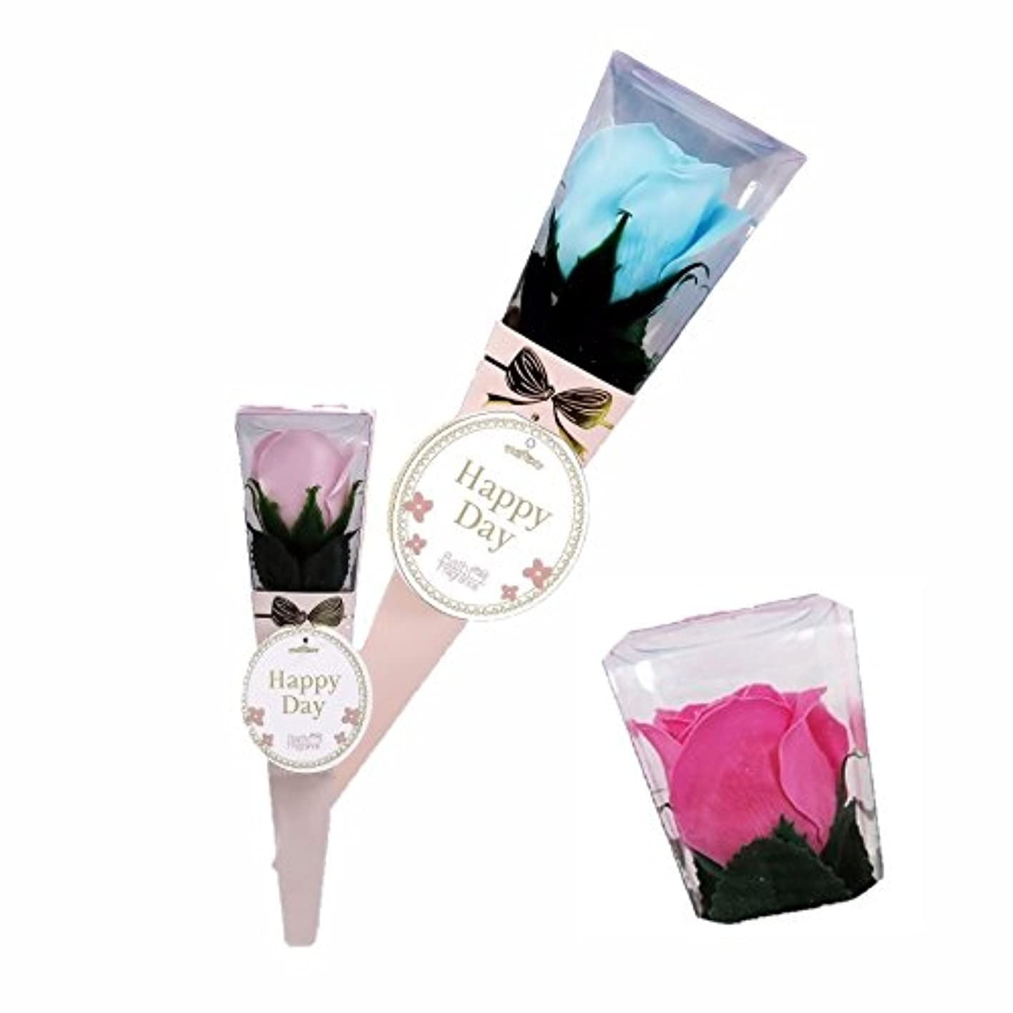 知恵フックフリルバスフレグランス ミニローズブーケ ローズピンク バスフラワー ギフト お花の形の入浴剤