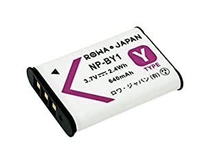【ロワジャパン社名明記のPSEマーク付】 SONY ソニー対応 HDR-AZ1 の NP-BY1 互換 バッテリー