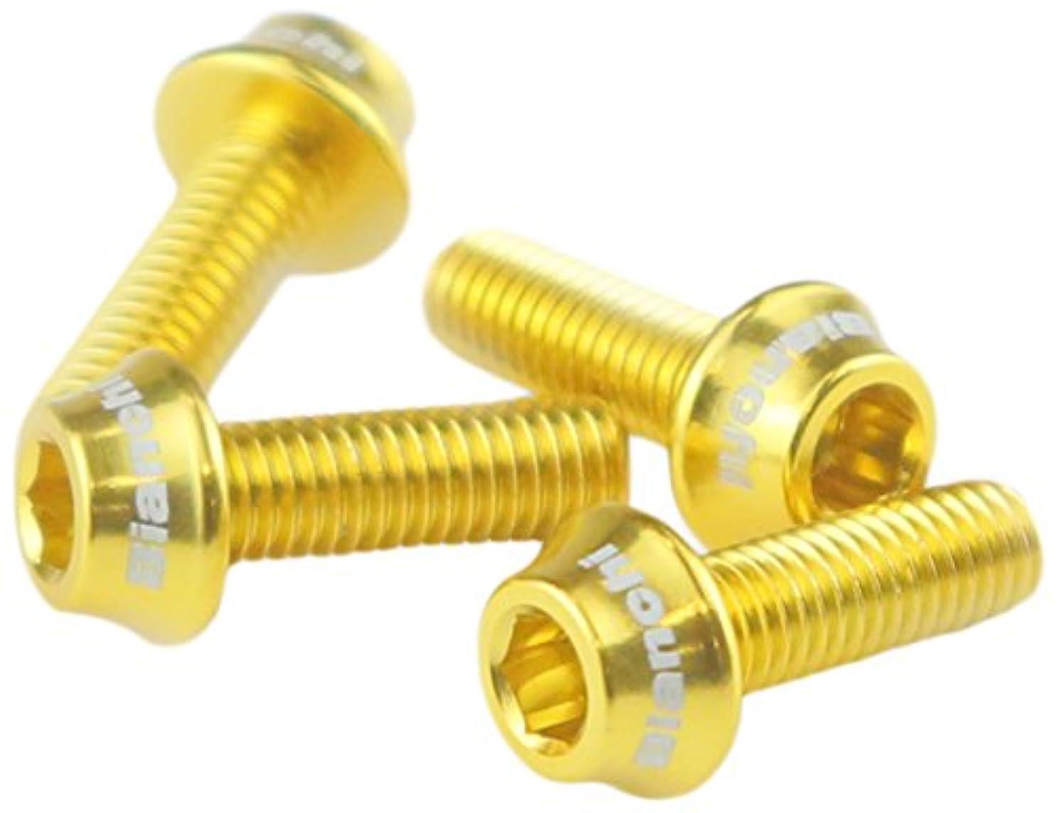 変数クラッチボリュームBianchi(ビアンキ) ボトルケージボルト A ゴールド JPP0207001GO000