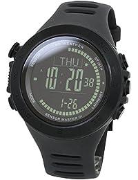 [ラドウェザー] 腕時計 スイス製センサー 天気予測 高度/気圧/気温 アウトドア デジタルコンパス 登山 100m防水 ランニング&フィットネス スポーツ時計